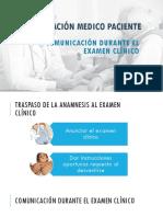 Comunicación Durante El Examen Clínico
