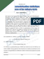 Valeur Test Critere de Caracterisation Statistique