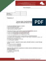Test Varianta 5 New Profesional Consult - IRU