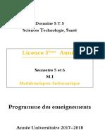 Programme 2017-2018 MAT-InF 3ème Année