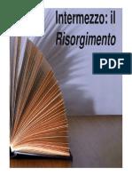 Intermezzo - Il Risorgimento