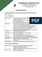 RAD7 Specifications