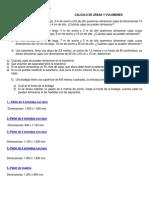 Calculo de Areas y Volumenes Con Combinación de Cuerpos Geométricos y Ejercicios Resueltos