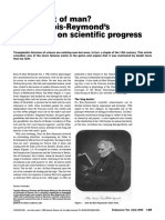(2000) the Ascent of Man Emil Du Bois-Reymond's Reflections on Scientific Progress