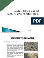 Pengamatan Dan Analisa Makro Dan Mikro f