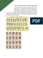 Conocimientos de La Escritura de La Civilizacion Maya