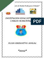 Plan Operativo Anual de La Institución Educativa0okonencabezado