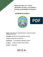 Informe 1er Lab - Sintaxis de Funciones en Matlab