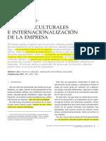 Factores Culturales e Nternacionalización de La Empresa