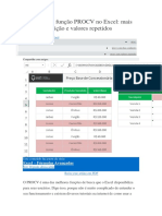 Variações Da Função PROCV No Excel