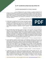 Resoluçoes Da 5a Conferencia Da OCML
