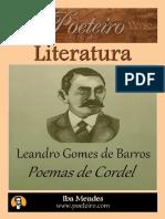 Leandro Gomes de Barros - Poemas de Cordel