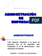 Conceptos de Admnistración de Empresas