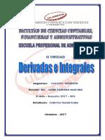 Empleo de Las Derivadas e Intervalos - Calculo Superior