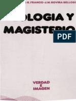 AAVV - Teologia y Magisterio - Ed Sigueme