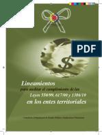 Lineamientos Para Auditar El Cumplimiento de Las Leyes 550-99, 617-00 y 1386-10 en Los Entes Territoriales