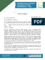 Acceptance Letter Paper Id 9398