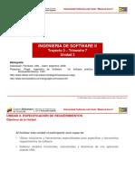 Unidad 3. Especificación de Requeriientos de Software