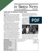 Winter 2008 Delaware Sierra Club Newsletter