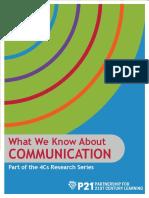 p21 4cs research brief series - communication