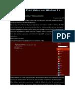 Crear Access Point Virtual Con Windows 8 o Windows