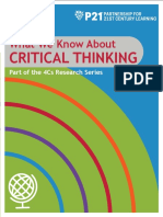 p21 4cs research brief series - critical thinking