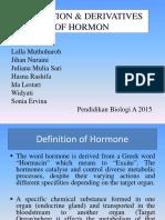 Kelompok 1 - Definisi Hormon Dan Derivatnya (2)