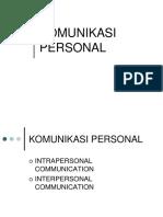 6. Komunikasi Personal