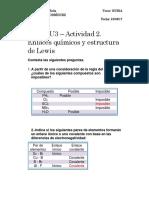 A07065142-MIII – U3 – Actividad 2. Enlaces Químicos y Estructura de Lewis_César