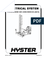 Hyster B214 Electrical System - 1638483-2200SRM1279 (05-2006)