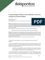 A Representação Política e Seus Intérpretes- Acerca Da Recepção de Thomas Hobbes