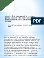 Norma Oficial Mexicana NOM 007 SSA2 1993