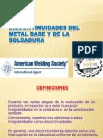 Discontinuidades y Defectos Soldadura