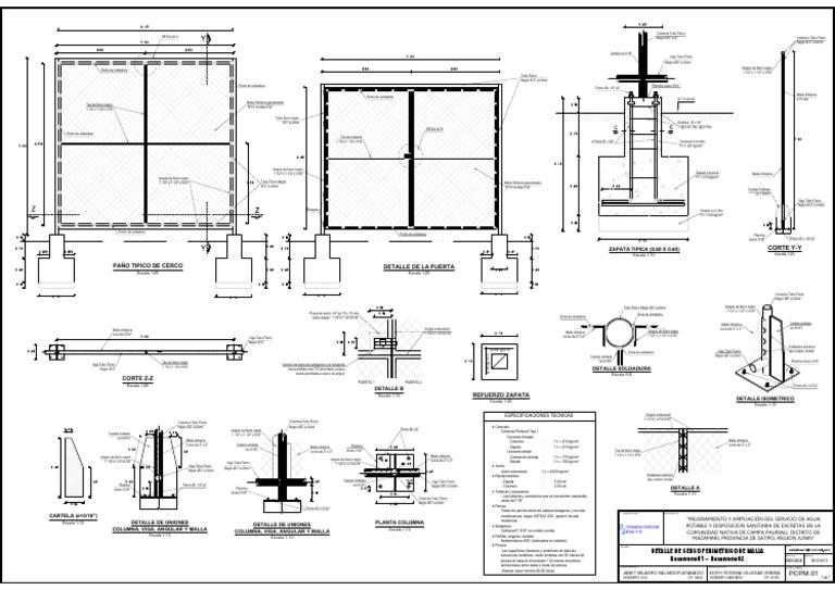 7.Plano Detalle de Cerco Perimetrico-A2 1_1000