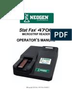 Statfax 4700 User Manual