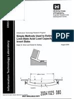 Simple Method to Determine Axle Load Capacity