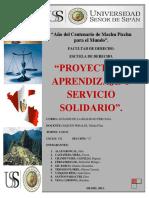 Proyecto Final de Aprendizaje y Servicio Solidario