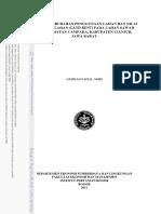 123dok Analisis Perubahan Penggunaan Lahan Dan Nilai Ekonomi Lahan Land Rent Pada Lahan Sawah Di Kecamata