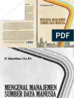 Mengenal Manajemen Sumber Daya Manusia Oleh Dr. Taufiqurokhman. m.si