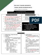 Trauma partial uretra posterior