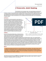 Analysis of Concrete Joint Sawing