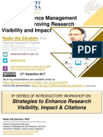 Online Reference Management Tools for Improving Research Visibility and Impact