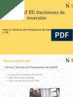 04_Tëcnicas de Preupuestode Capital-VAN y TIR