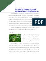 Bahan Herbal dan Bahan Organik dalam Budidaya Ikan Lele.docx