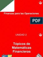 Finanzas para Operaciones- Tópicos de Matemáticas Financieras