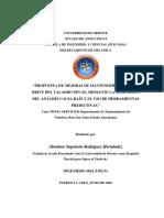 """""""PROPUESTA DE MEJORAS DE MANTENIMIENTO AL TOP DRIVE DEL TALADRO PDV-02, MEDIANTE LA APLICACIÓN DEL ANÁLISIS CAUSA RAÍZ Y EL USO DE HERRAMIENTAS PREDICTIVAS.pdf"""
