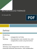 Sejarah Dan Pengertian Biotek