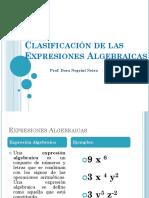 clasificación de las expresiones algebraicas-