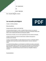 Las Escuelas Psicologicas, TEXTO PARALELO