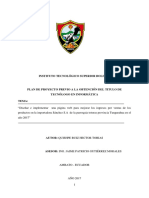 Ejemplo de Proyecto de Investigacion  creacion de pagina web